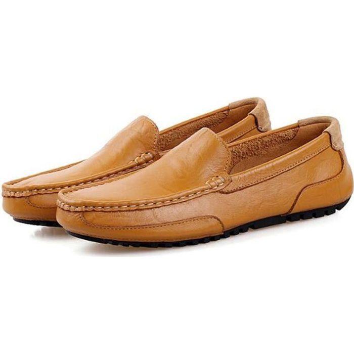 Chaussure Homme Qualité Supérieure Mode En Cuir Trois Couleurs Cuir Souple Chaussures Hommes Mocassins Respirant Conduite