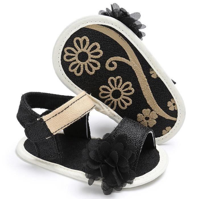 BOTTE Bébé Toddler Fille Mignon Crib Chaussures Souple Prewalker Semelle Souple Chaussures@NoirHM