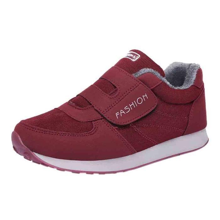 Plates Chaussures De Chaud ge vebegre2066 Velours Course Plus Moyen Coton Femmes TIqqw0xS
