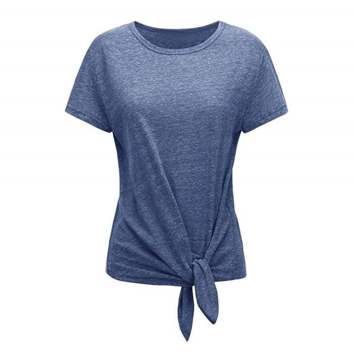 086b03be4043b T-Shirt Femme,CIELLTE Blouses à Manches Courtes Pull Chic Femme T ...