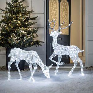 Decoration de noel exterieur renne achat vente decoration de noel exterie - Cerf lumineux exterieur ...