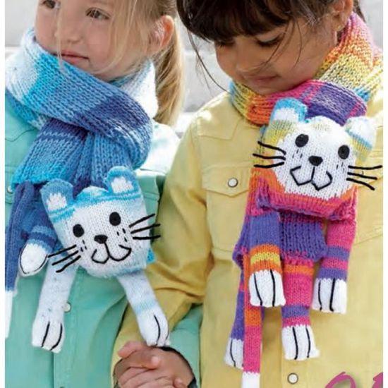 2233d41f1d4 Laine CAT SCARF Kit écharpe enfant - Katia 62 Bleu - Achat   Vente laine  tricot - pelote Laine CAT SCARF Kit écharpe en - Cdiscount