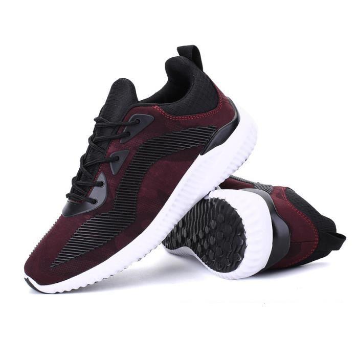 et hiver léger Chaussures Homme Chaussure Sport Jogging XZ220Rouge44 Baskets été Respirant BWYS 7Rtp0
