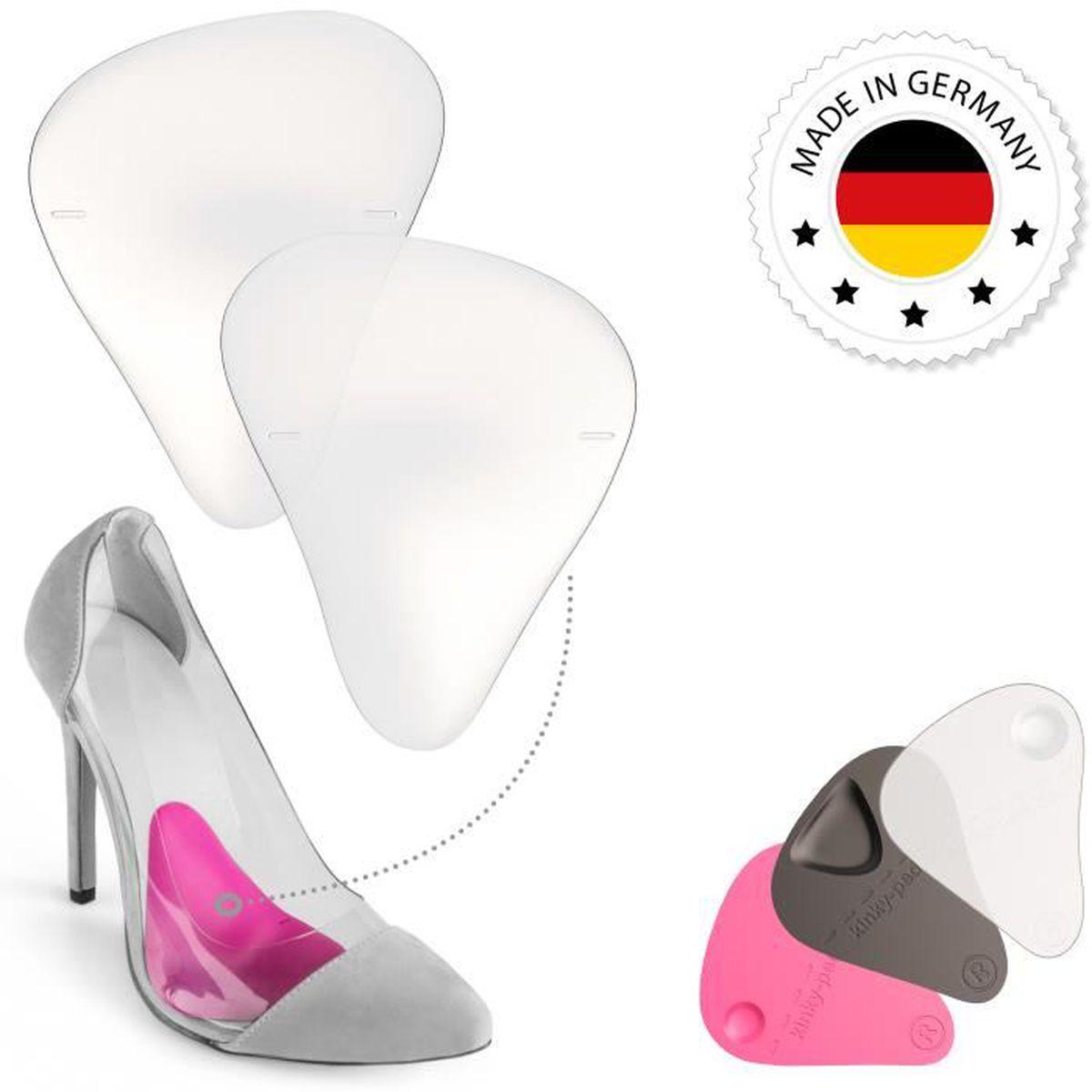 97ba6cf5e6740e Demi Semelle de Chaussure à Talon hauts aiguille - Coussinets en Silicone  Gel Support Voûte plantaire - EU 36 37 38 - transparent