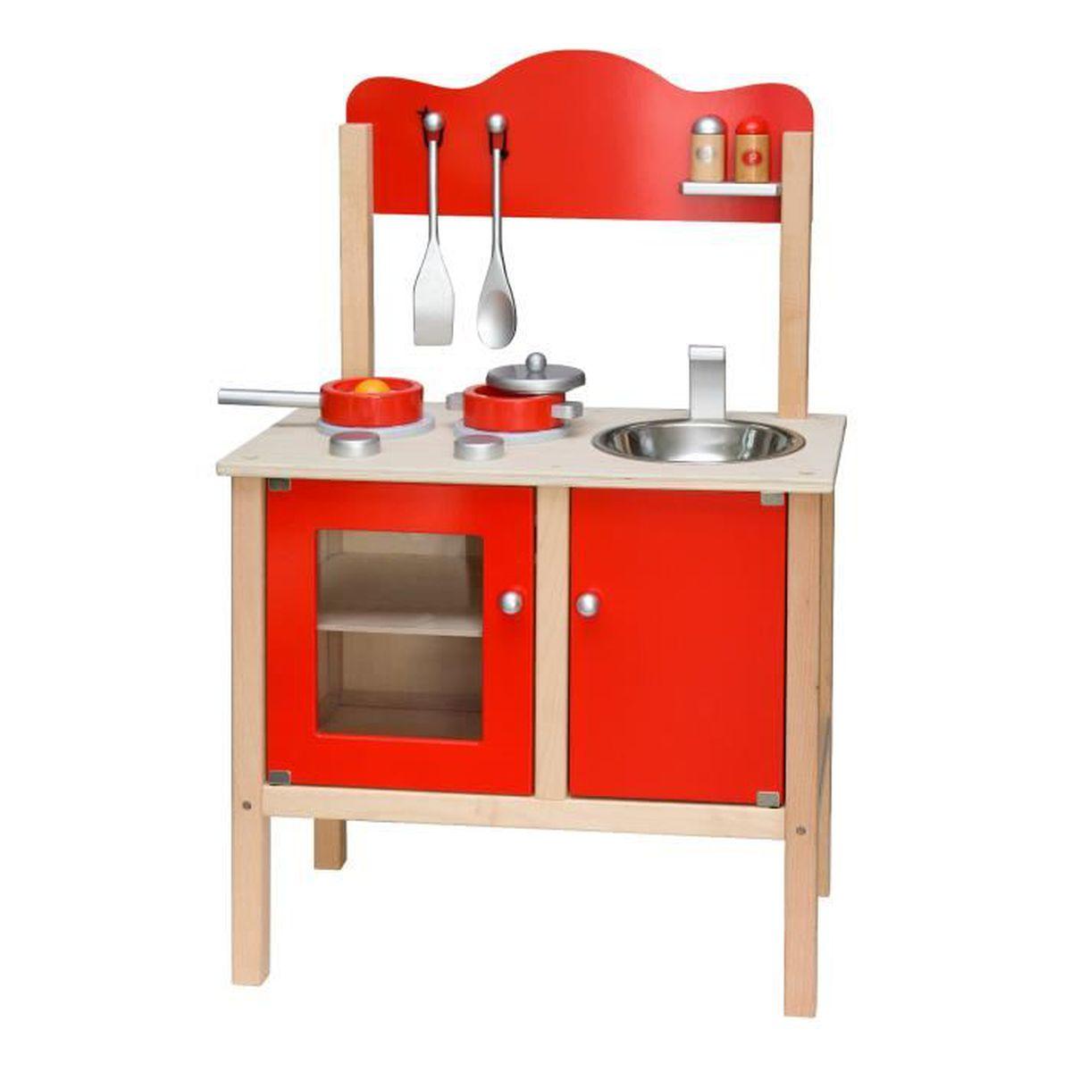 cuisine en bois avec accessoires enfant 3ans rouge achat vente evier de cuisine cuisine. Black Bedroom Furniture Sets. Home Design Ideas