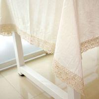 Nappes En Coton Et Lin Naturel Uni Couleur Naturelle Draperies Blanc ...