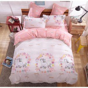 parure de lit licorne achat vente pas cher. Black Bedroom Furniture Sets. Home Design Ideas