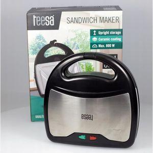 CROQUE MONSIEUR Teesa tsa3221 Sandwich Maker 3 en 1, argent/noir