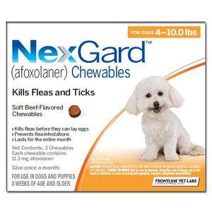 ANTIPARASITAIRE Nexgard Chews pour très petits chiens (jouets) 2-4