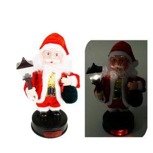 AUTOMATE ET PERSONNAGES Père Noël automate de 20cm haut de avec lumignon