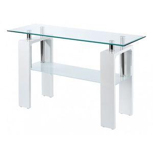 console meuble laque blanc achat vente pas cher. Black Bedroom Furniture Sets. Home Design Ideas
