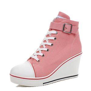Livraison gratuite d'hiver haut-top chaussures en toile femmes chaussures plates chaussures décontractées pour garder au chaud K3aJ3M