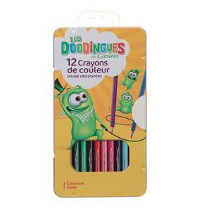 CRAYON DE COULEUR 12 Crayons de couleurs - Plastique Bm - Assortis
