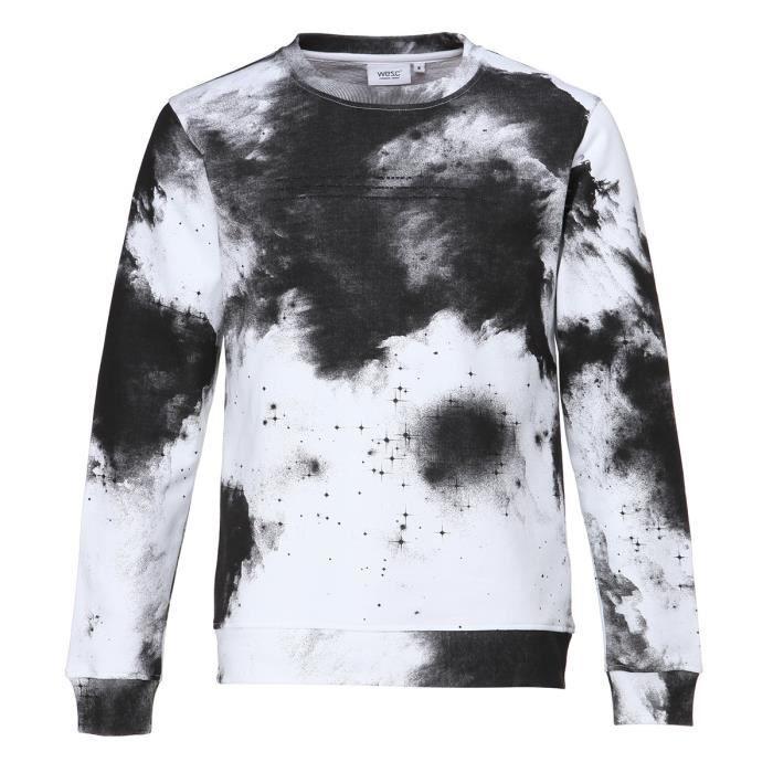 WESC Sweat-shirt Crew Sirius - Homme - Blanc