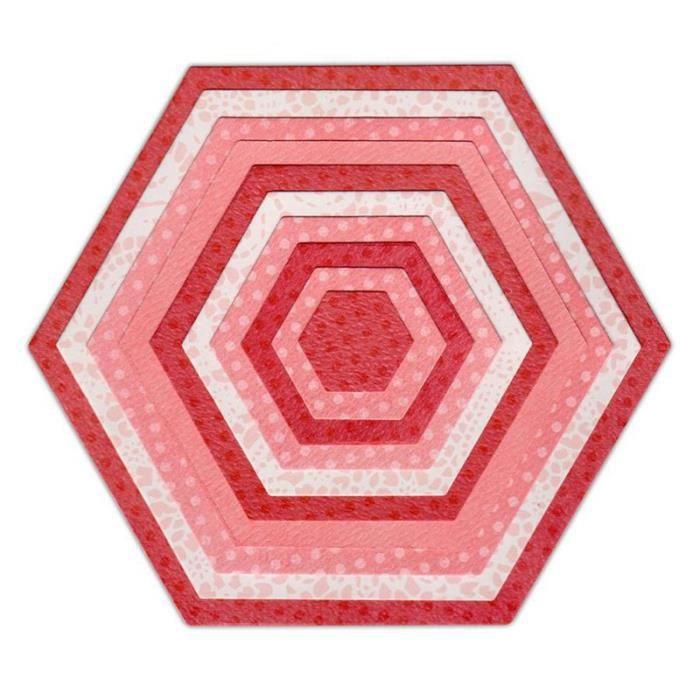 SIZZIX Matrice de découpe Framelits Set 10 pièces de Découpage - Hexagones