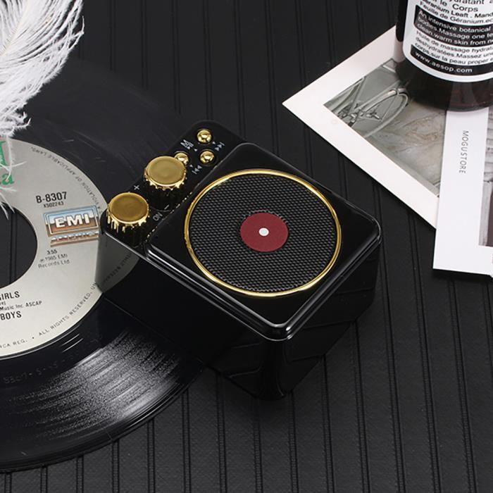 T10 Portable Vintage Phonographe Son Tf Extérieur Sans Fil Bluetooth 4.2 Haut-parleurs_mo4085