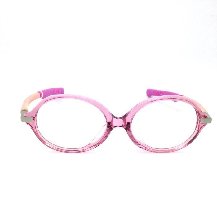 Montures optiques Silicon Enfants Fille Lunettes rose mignon ronde en verre  Myopie 3c8d36c0e16a
