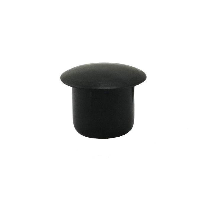 IROX Lot de 10 bouchons cache-trou en plastique Blanc 6 mm