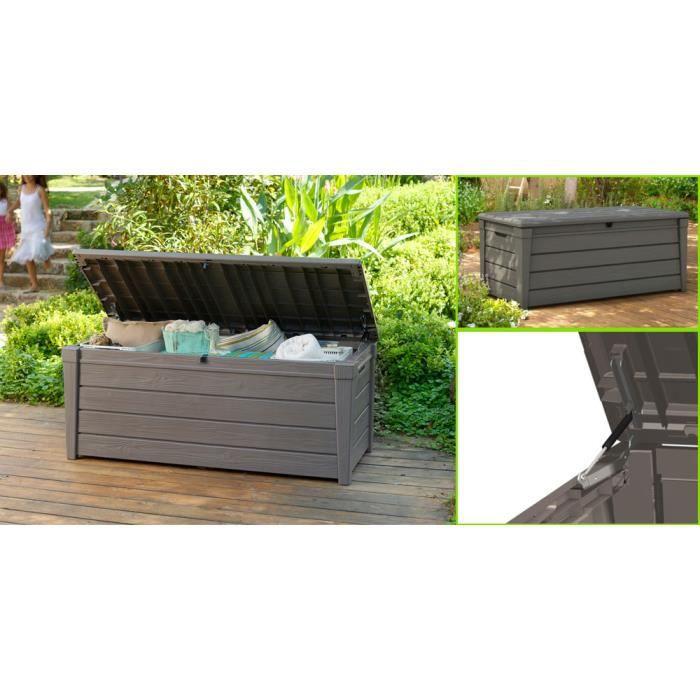 Coffre de rangement jardin 455L. Deluxe aspect bois Keter - Achat ...