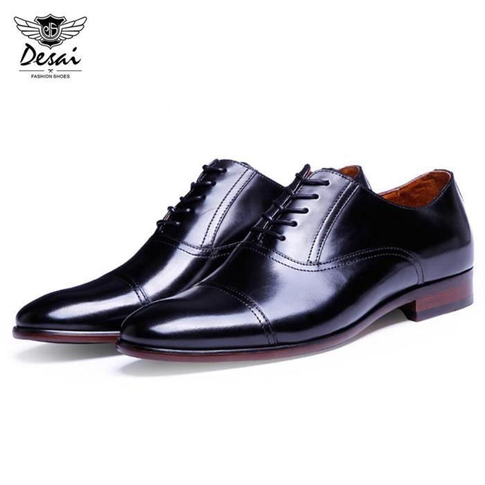 Desai Toe Casual Pointu en cuir véritable Homme Chaussures d'affaires 17YPkd