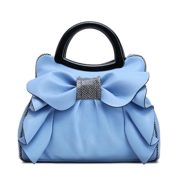 sac à main femmes mode nouveau Premium PU cuir décontractées épaule Bowknot Fleurs Luxe