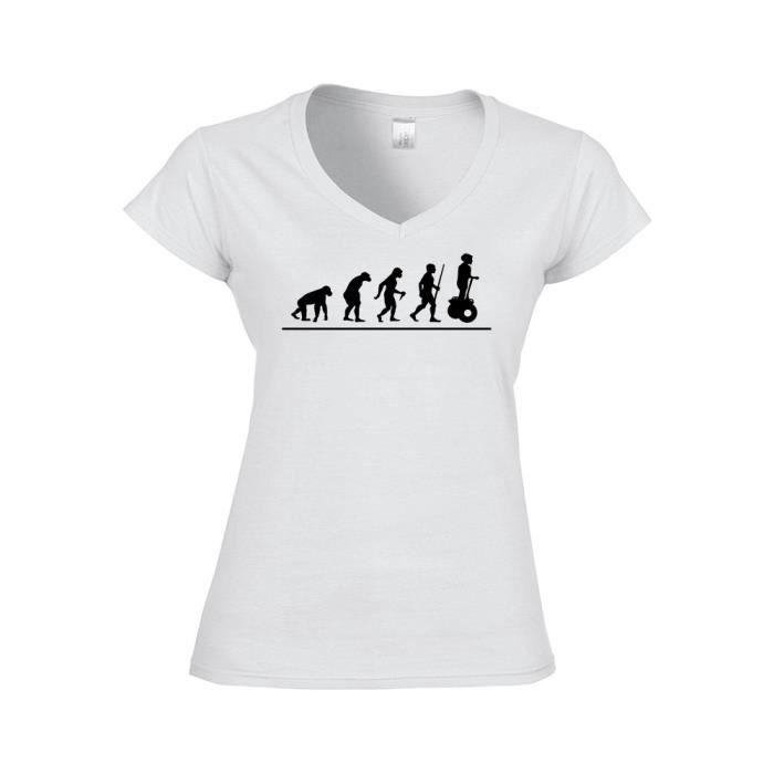 3dac3d8042ab2 T-shirt Femme col V évolution segway xl rouge Rouge - Achat   Vente ...