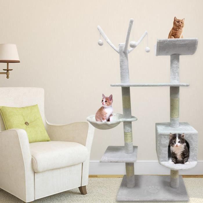 Arbre À Chat Multi-niveau Jouet Parfait Pour Votre Chat-blanc