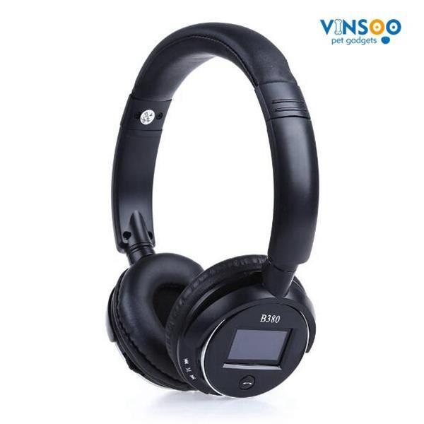 Vinsoo®zealot B380 Bluetooth Casque Sans Fil Stéréo V3.0 Mains Libres Bandeau Avec Lcd Lecteur De Musique