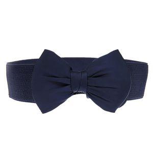 ... CEINTURE ET BOUCLE femme Mode bowknot élastique large ceinture élasti  ... 6487335dd94