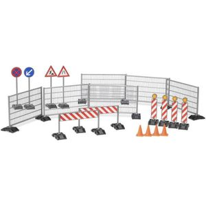BRUDER - Accessessoires de chantier: panneaux de signalisation, plots? - 18 cm