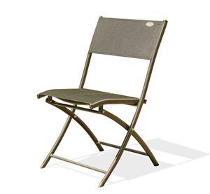 Chaise pliante de jardin aluminium capuccino
