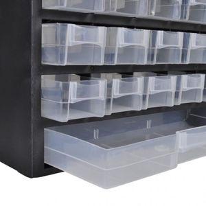 BAC DE RANGEMENT OUTILS 41-Tiroirs Armoire/module/casier de rangement plas