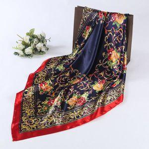 ECHARPE - FOULARD Femmes Lady Floral imprimé foulard carré tête Wrap