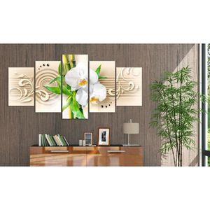 tableau impression sur toile 5 parties fleurs achat. Black Bedroom Furniture Sets. Home Design Ideas