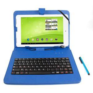 CLAVIER D'ORDINATEUR Etui bleu + clavier pour MSI Windpad, NATPC X210