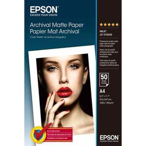PAPIER THERMIQUE EPSON Papier d'impression - 192g/m2 - A4 - 50 feui