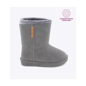 9cd664539347a BE ONLY Boots Enfant Gris Gris - Achat   Vente botte - Cdiscount