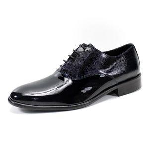 MOCASSIN Derbies blue haute qualité cuir 100% chaussures po