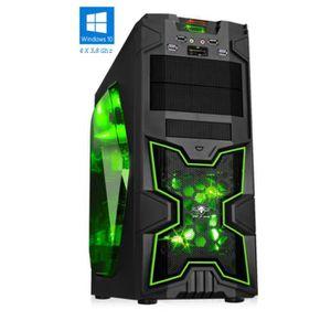 ORDINATEUR TOUT-EN-UN PC Gamer XFighters Vert - FX 4300 - 8GO RAM - 1000