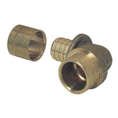 SOMATHERM Raccord à glissement PER - Coude à souder sur tube cuivre Ø 16 - PER Ø 20