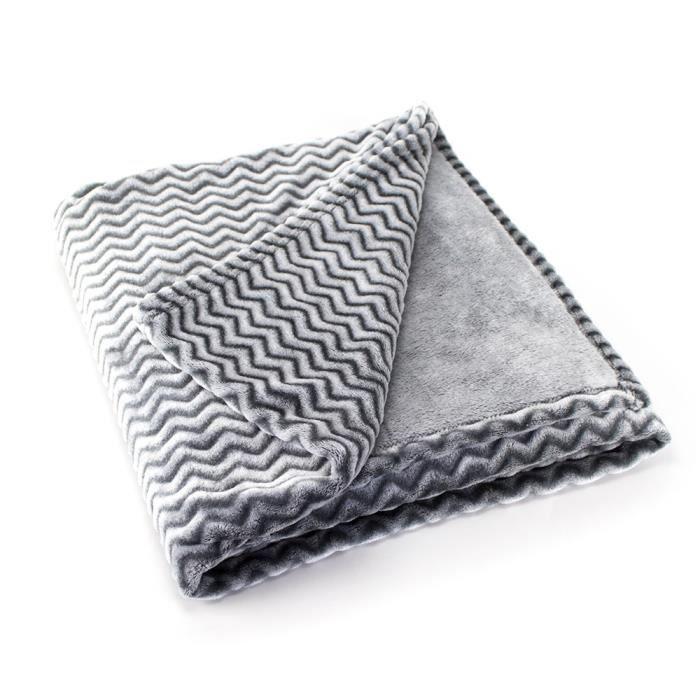 PAVILLON D'INTERIEUR Plaid GARY 130x160 cm gris
