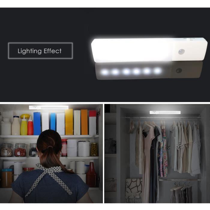 De Garde Motion La Lumière Sensor Lampe Penderie Avec Pir Armoire Usb Cabinet Sous Du Aimant,chargement Led Robe kZuPOXi