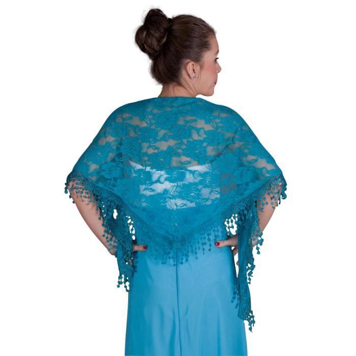 Etole cérémonie femme dentelle - Bleu turquoise - Taille Unique ... bfdfb84878a