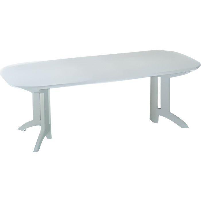 Table de jardin plastique for Table de jardin plastique blanc
