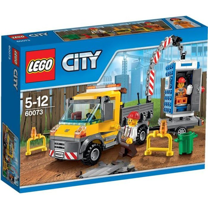 Lego city 60073 le camion grue achat vente assemblage - Lego city camion police ...