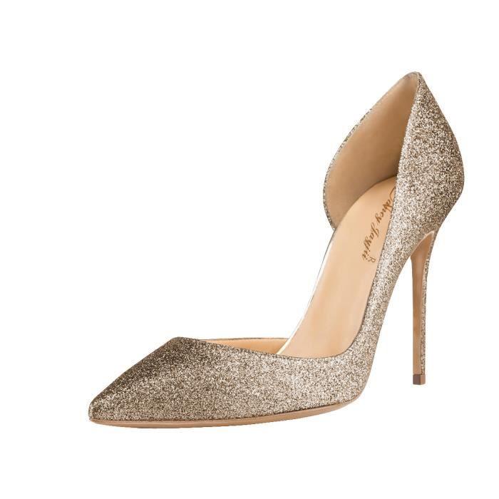 Nancy Jayjii: Escarpins brillants nouveau modèle, chaussures pour femmes avec bouts pointus et talons hauts.