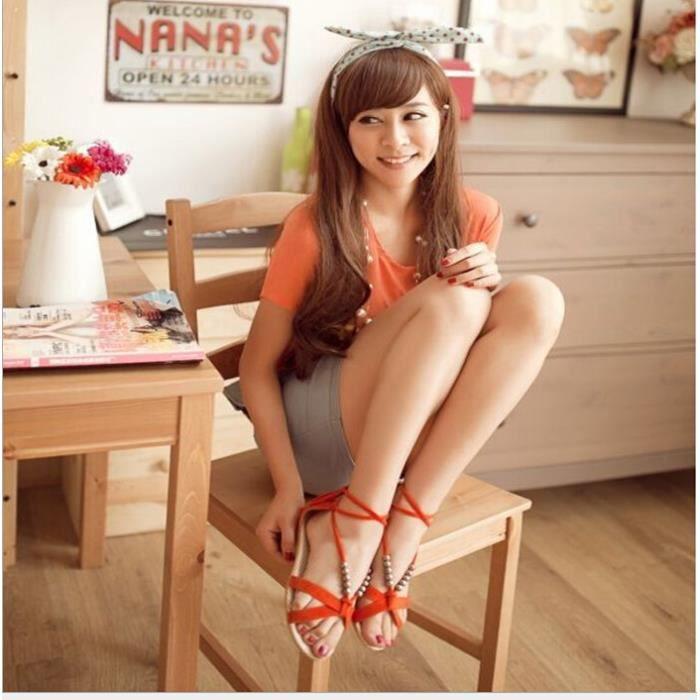 Été nouvelle pente avec des sandales perlées chaussures en dentelle avec petite pente chaussures à talons