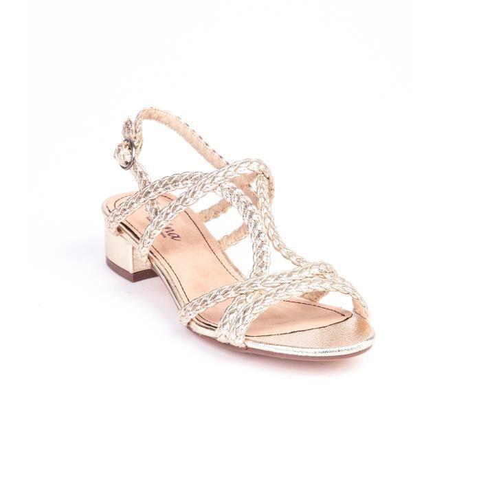 Sandales brides tressées entrecroisées femme Ve... cdwGnL