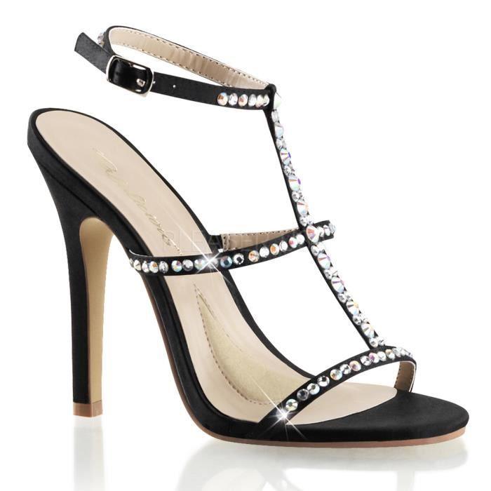 Fabulicious MELODY-18 4 1/2 Inch Heel T-Strap Sling Back Sandal w/RS L6EoE