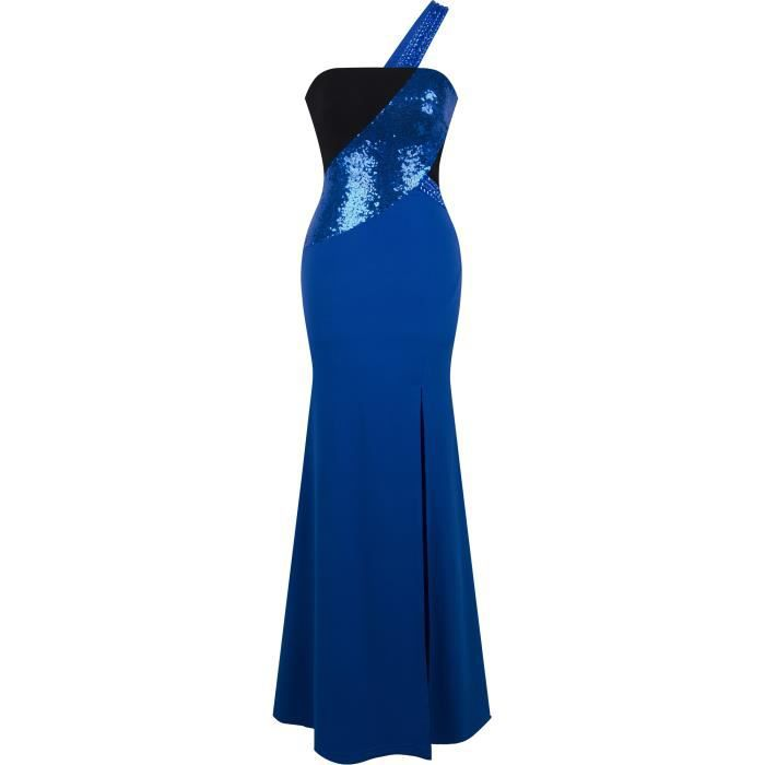 bd898407b65 ROBE DE CÉRÉMONIE Angel-fashions Long Robe de soiree Une épaule Pail